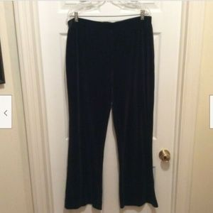 St. John Sport Pants XL Black Velveteen Feel
